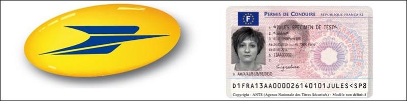 La poste et le permis de conduire