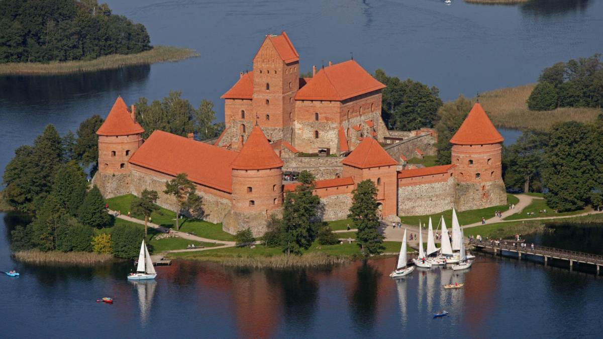 Trakai and Trakai Castle Near Vilnius In Lithuania