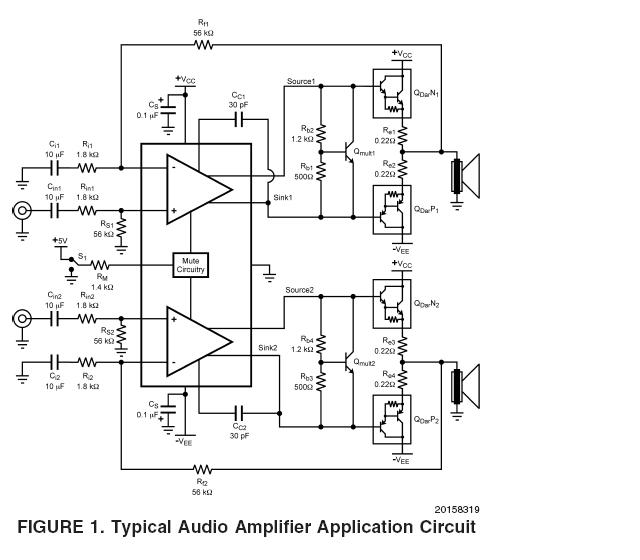 lm4702 audio power amplifier driver