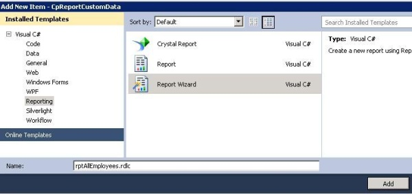 Using Custom Data Source to create RDLC Reports - CodeProject - how to create a report