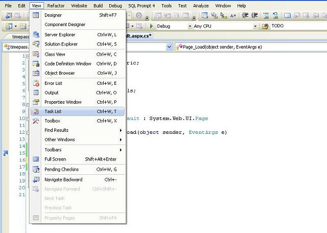 Task List Feature of Visual Studio Framework - CodeProject - visual to do list