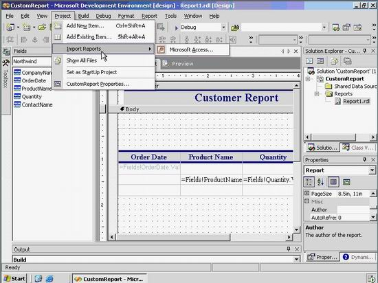 Integrating Microsoft Access DB, SQL Reporting Services and Visual
