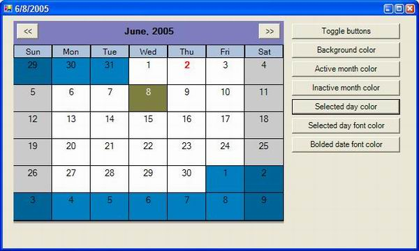 How To Add Subtract Days Months Years Hours From Date Customizable Monthcalendar Type Control Part 1 Codeproject