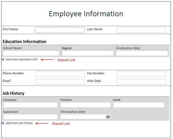 employee information form template - contact info sheet template