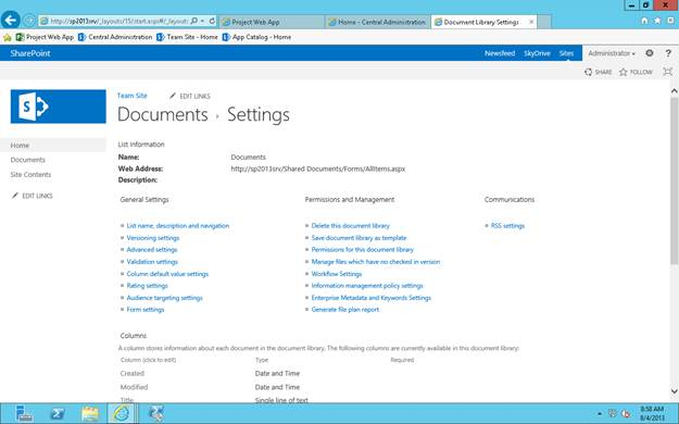 SharePoint 2013 Document Library  List Settings - CodeProject