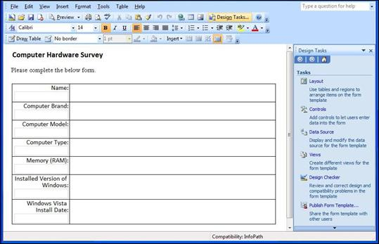 Form Management in MOSS 2007 - CodeProject - client information form template