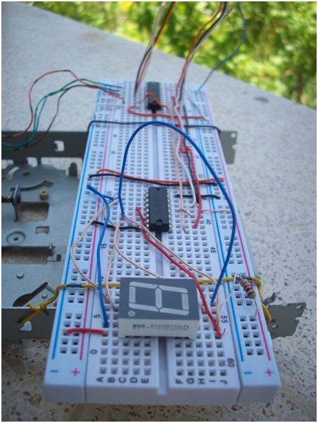 Stepper Motor and 7 Segment Display Control with Parallel Port