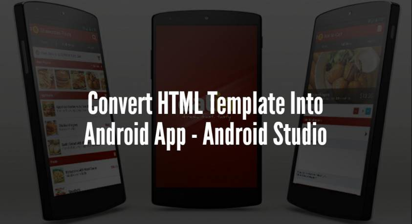 Convert HTML Template Into Android App - Android Studio - CodeSpeedy