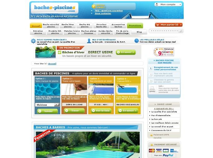 Baches piscines com code promo