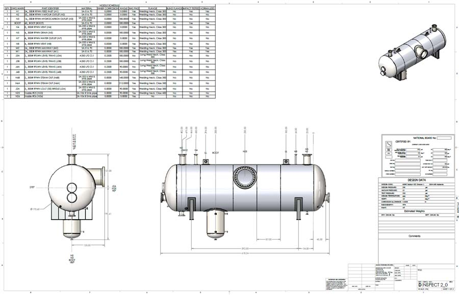 Automatic Pressure Vessel, Heat Exchanger and Piping Drawings Codeware