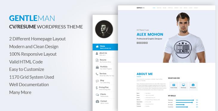Gentleman- Responsive CV / Resume HTML Template CodexCoder