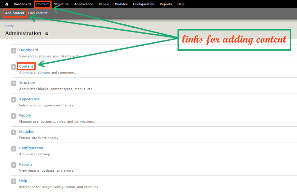 drupal-add-content-links