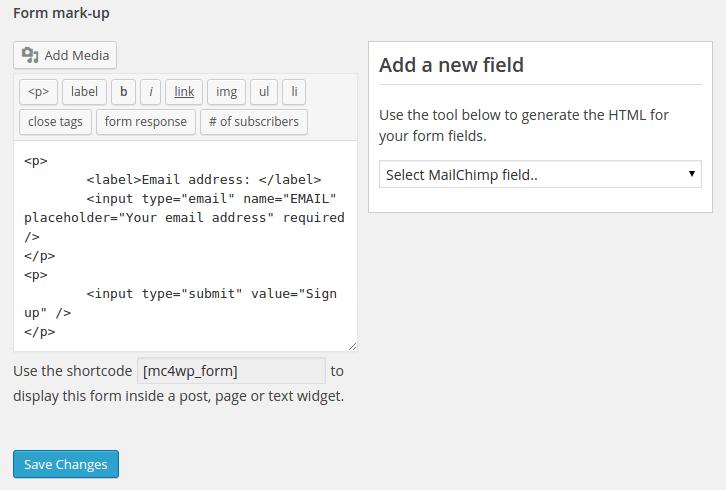 mailchimp-for-wordpress-shortcode-by-codexworld