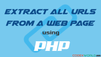 extract-all-urls-from-web-page-using-php-codexworld