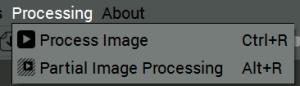 Parcial Image Processing Menu