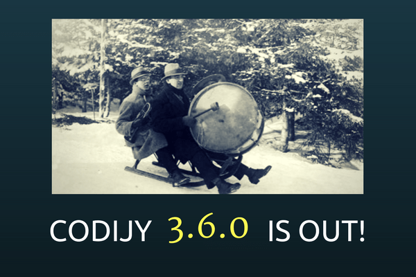 CODIJY 3.6.0 IS OUT