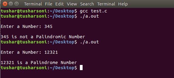 Code To Check Palindrome Number in C Programming Language