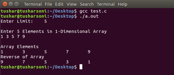 Reverse Array Elements in C Programming with and without Functions