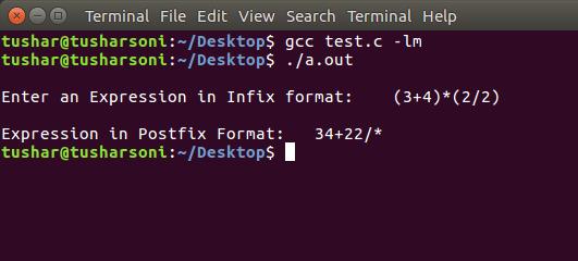 C Program To Convert Infix To Postfix using Stack