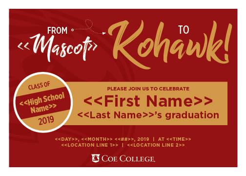 Graduation Announcements Coe College