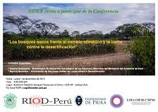conferencia los bosques secos frente a cambio climatico peq