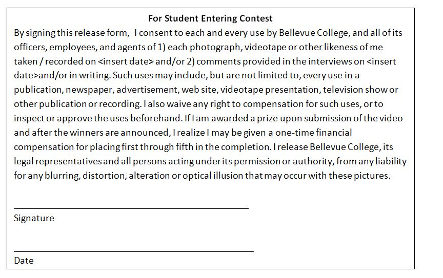 Mandatory Release Forms for Student and IT Professional