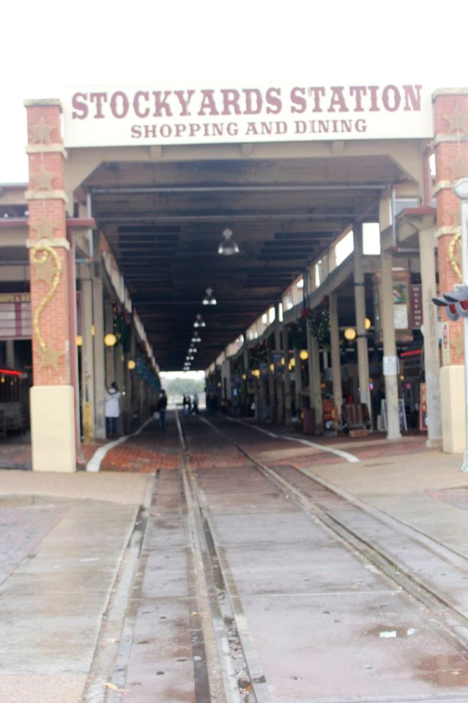 a very cool dining and shopping area at the Stockyards