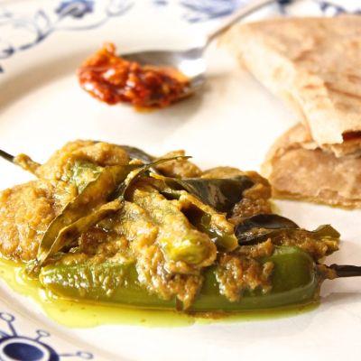 Mirchi Salan ~ Green Chilli Curry