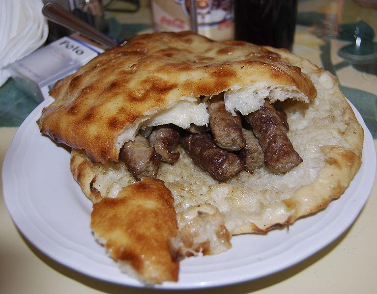 Cevapi, photo source Wikimedia Commons