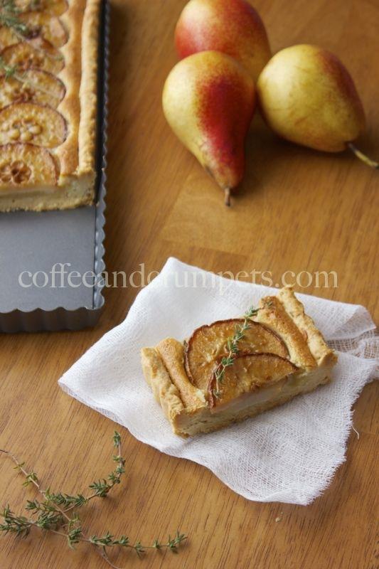 pear tart Forelle Pear and Thyme Frangipane Tart