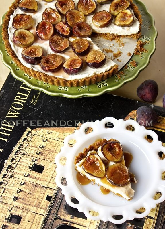 Fig Tart2 copy Cheesecake Tart with Caramelised Figs
