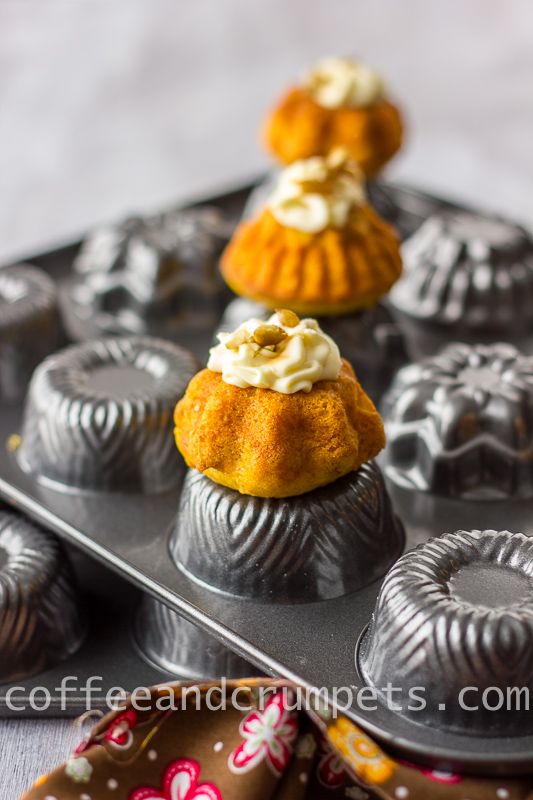 pumpkin mini bundt cake