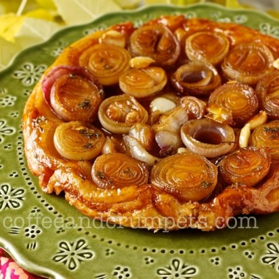 Shallot Tarte Tatin with Homemade Puff Pastry