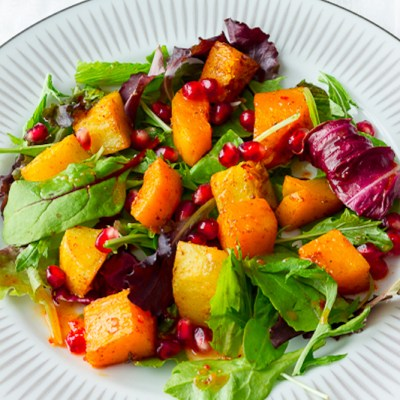 Roasted Butternut Squash and Sweet Potato Salad
