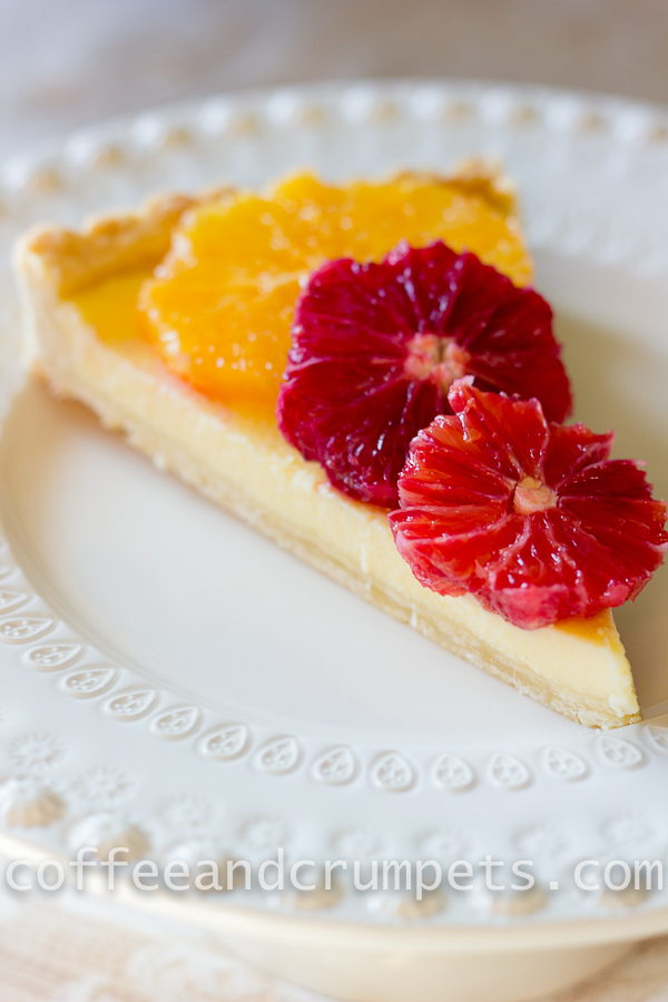 Blood Orange and Ricotta Tart-6
