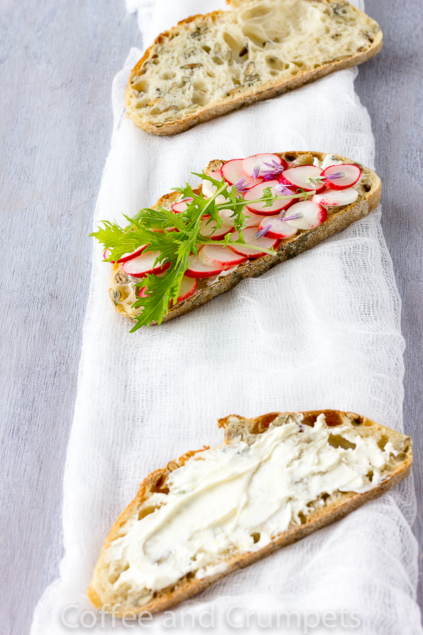 Pickled Radish and Lemon Mascarone Tartine -3