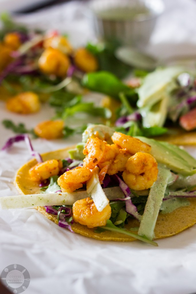 Spicy Shrimp Tacos | Coffee and Crumpets