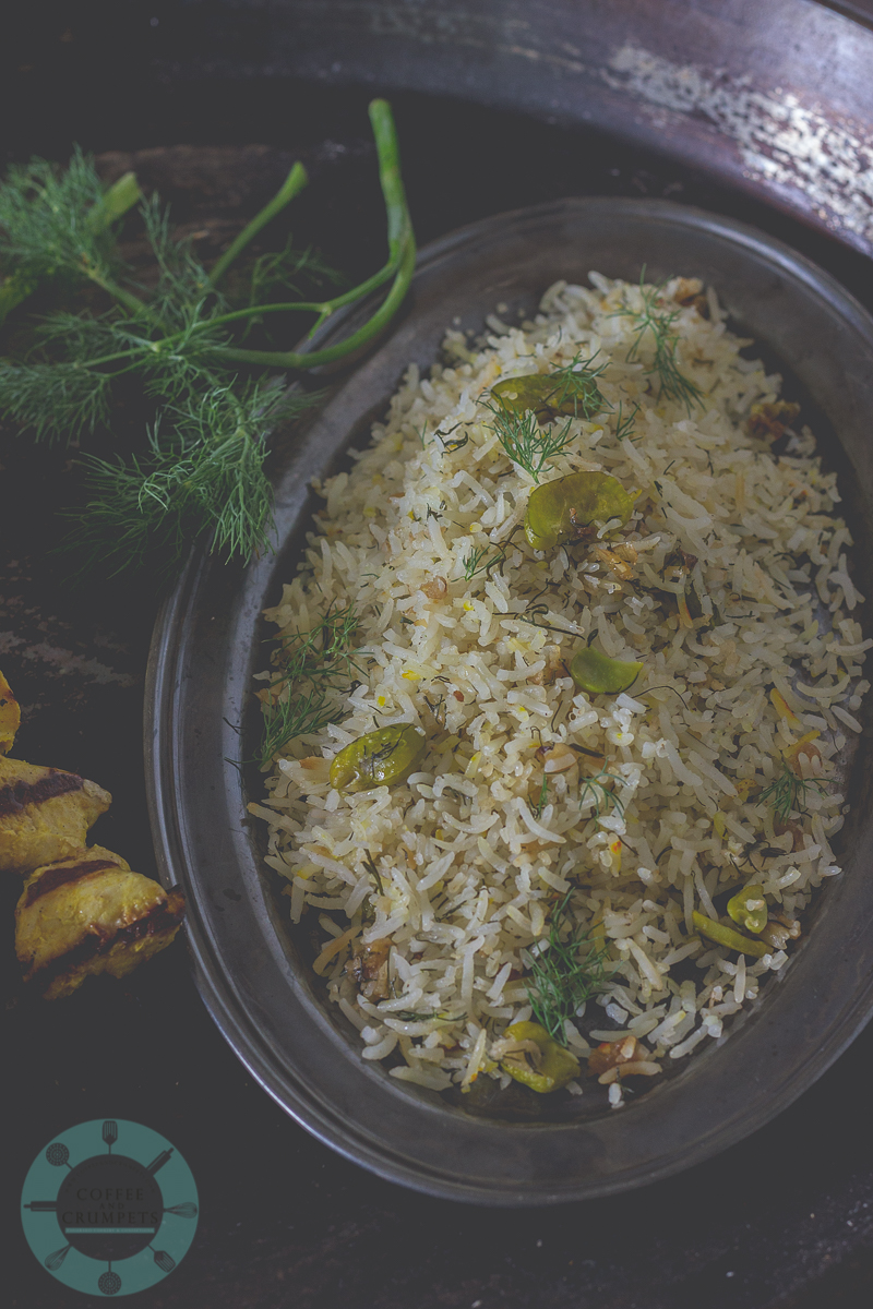 Jujeh Kebab and Baghali Polo