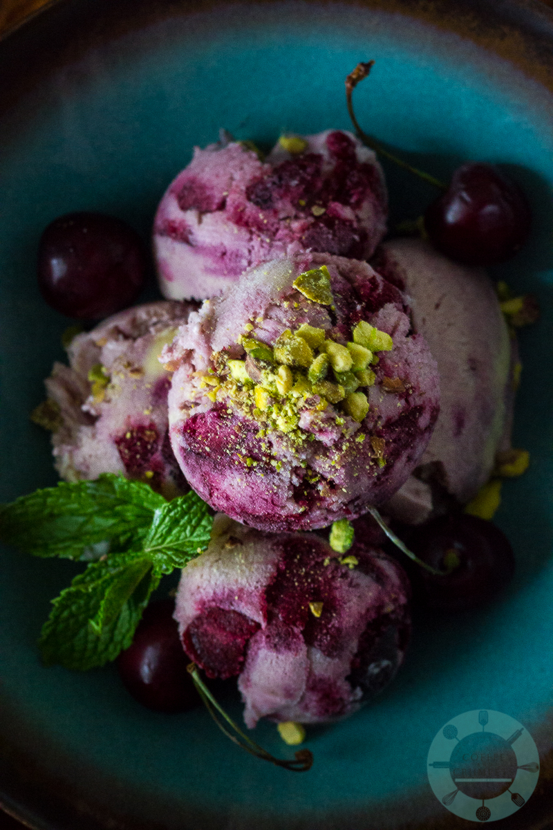 Cherry Cardamom Ice Cream