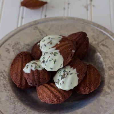 Chocolate Lavender Madeleines