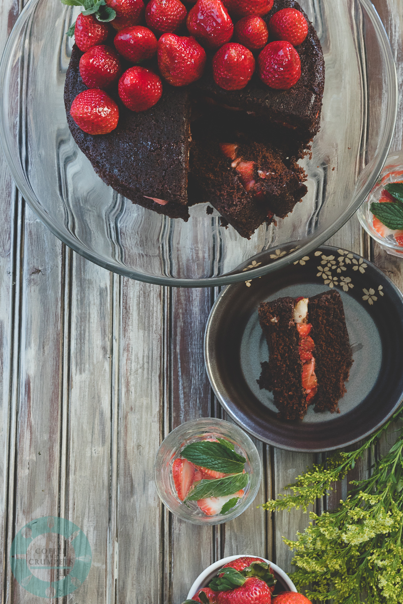 Devil's Food cake with Butter Glaze