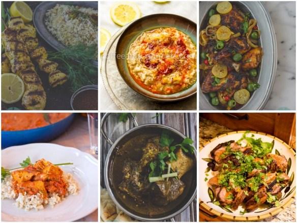 Jujeh Kebabs, Harees, Preserved Lemon Chicken, Butter Chicken, Nehari and Harissa Lamb