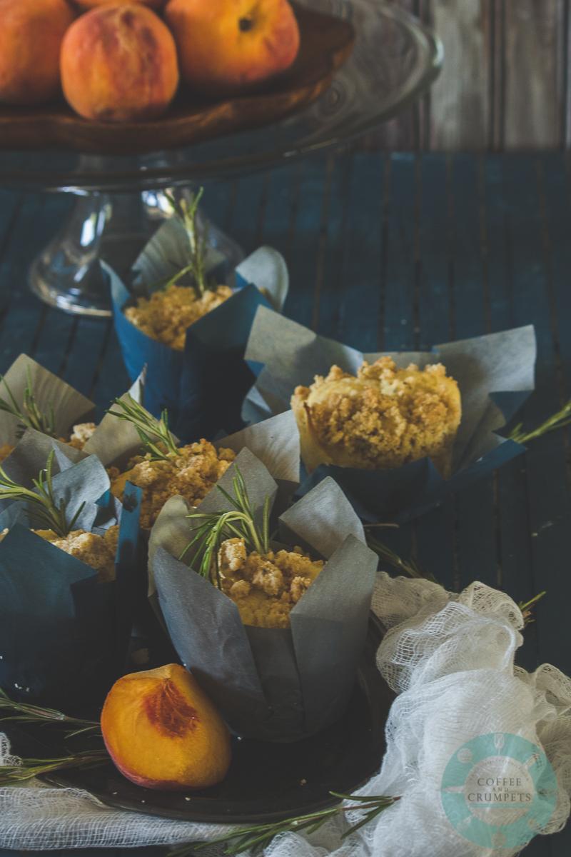 Peach Rosemary Muffins