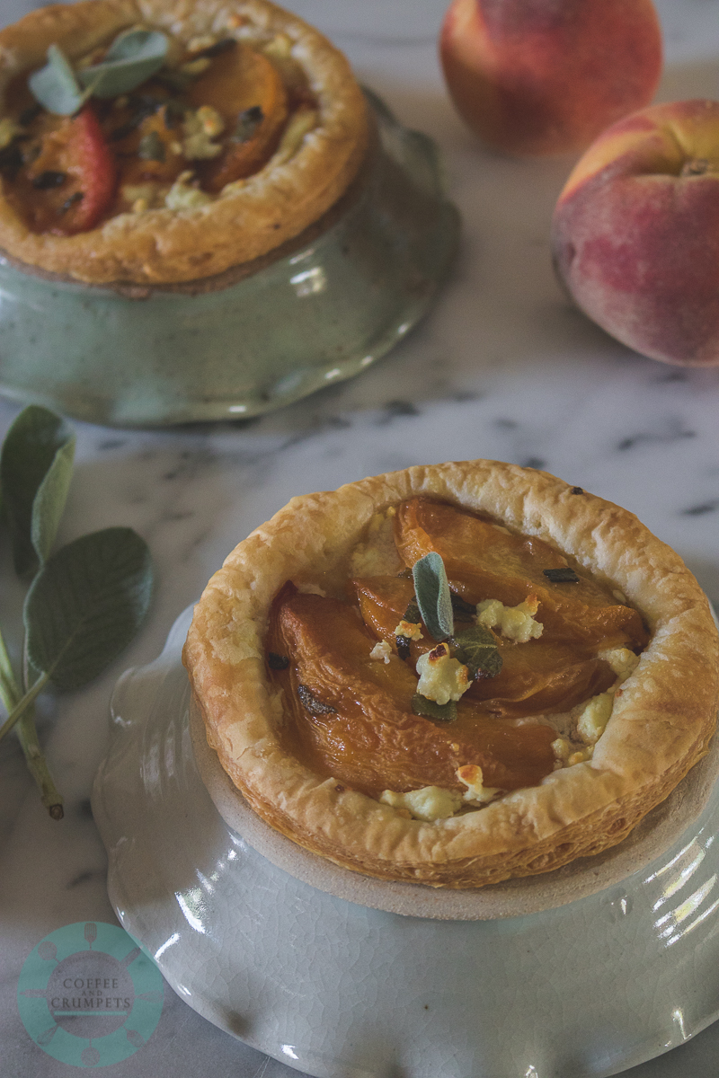 Peach and Goat's Cheese Tartlets