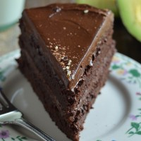 Fudgy Chocolate Beet Cake with Chocolate Avocado Frosting (Vegan and GF)