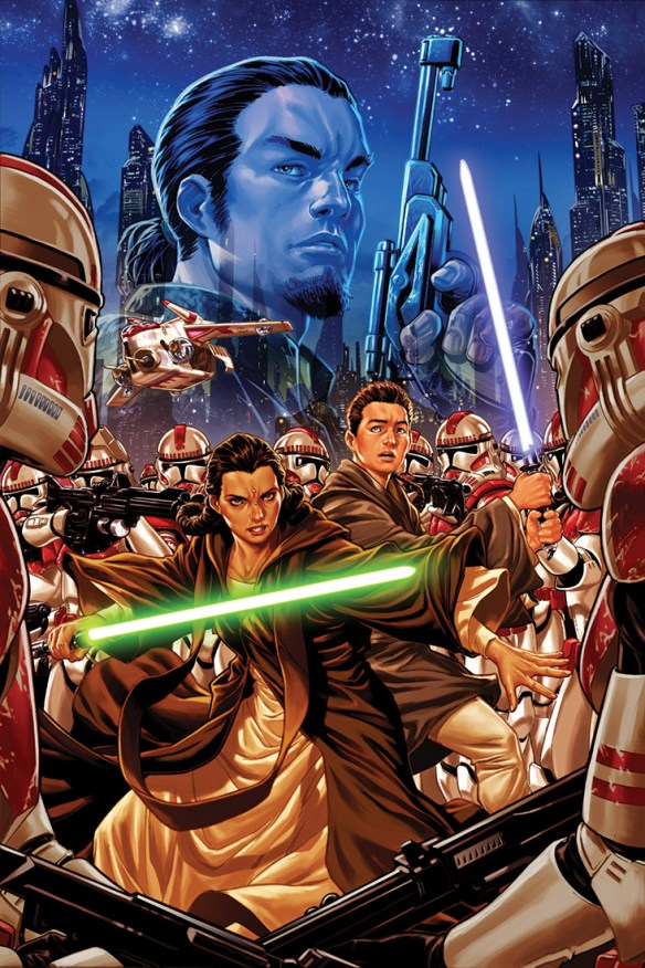 "Artwork for the cover of Marvel Entertainment's upcoming ""Star Wars: Kanan,"" comic series, which will focus on Kanan Jarrus and how he transformed himself from Jedi padawan to erstwhile rebel against the Galactic Empire. (Image courtesy of Marvel Entertainment)"