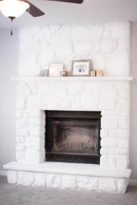 How To Whitewash Stone Fireplace - Fireplace Ideas