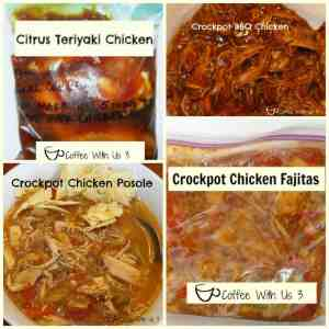 4 Easy Chicken Freezer Meals