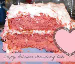 Slice of Strawberry Cake