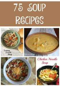 The Ultimate Soup Collection - 75 soup recipes to fill your table this fall & winter. Vegetable, chicken, beef, turkey, and so many more soup recipes!!